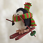 wool skiing ornament