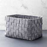 Large Woven Felt Bin