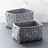 Woven Felt Bin Set of Two