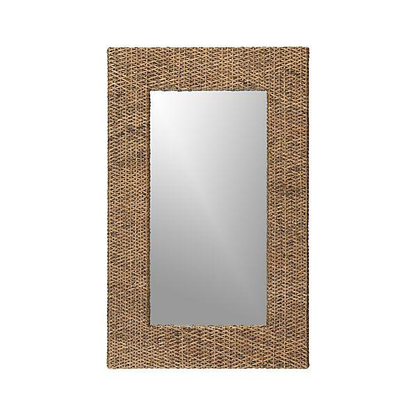 Woven Rattan Wall Mirror