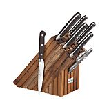 Crate and Barrel Limited Edition Wsthof 8-Piece Walnut Knife Block Set