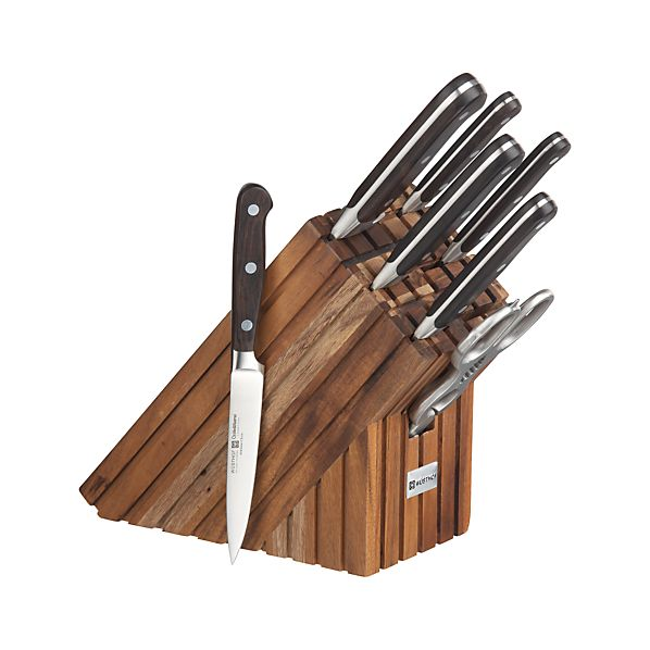 Crate and Barrel Limited Edition Wüsthof ® 8-Piece Walnut Knife Block Set