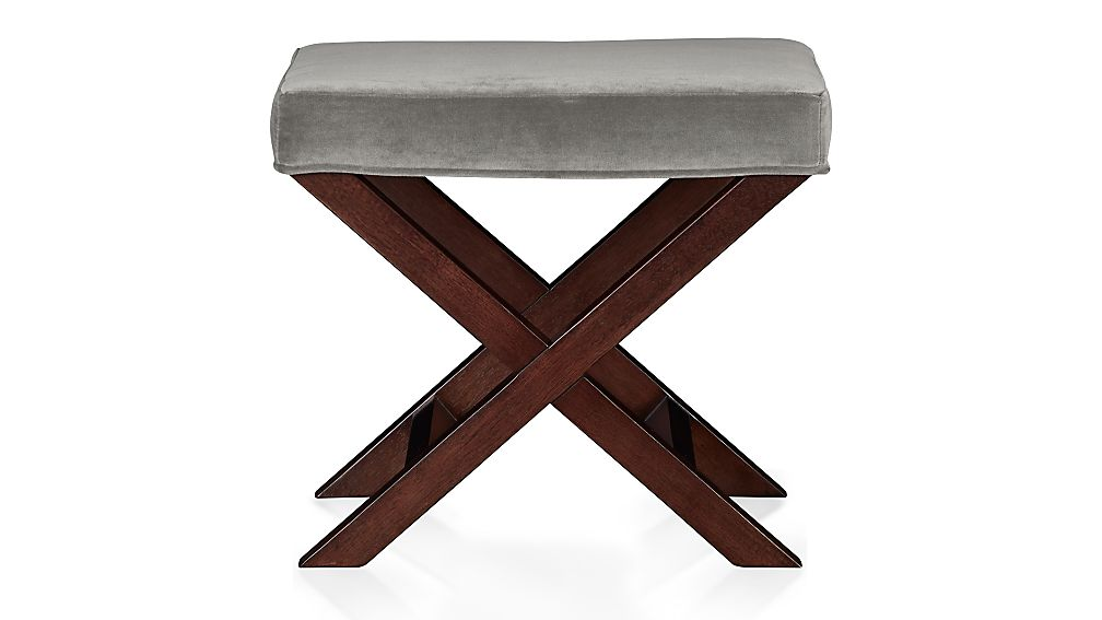 X Base Bench Vanity Stool Nickel Crate And Barrel