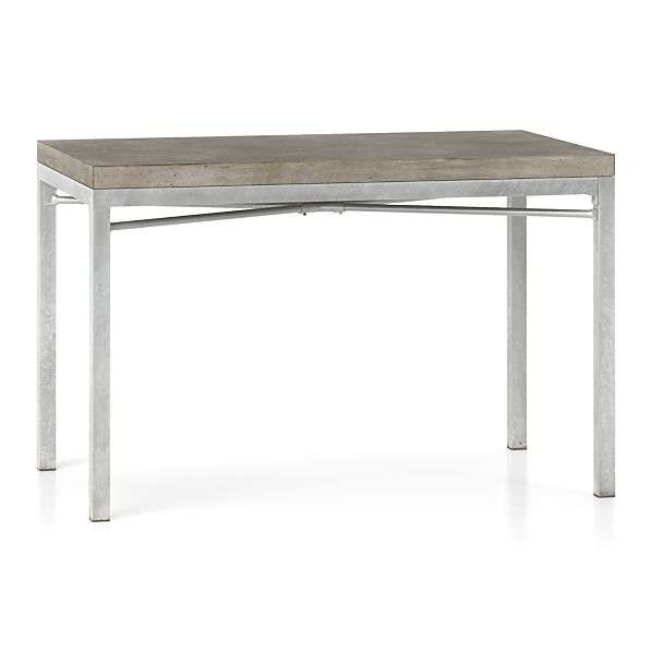 Concrete Top Zinc X Base Dining Tables Concrete Top Zinc X Base Dining