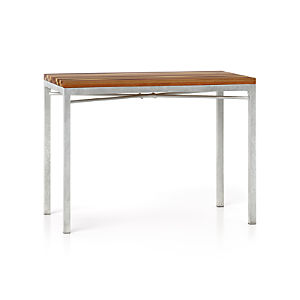 Reclaimed Wood Top/ Zinc X-Base 48x28 High Dining Table