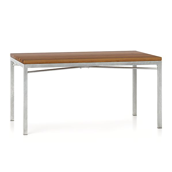 Zinc X Base 60x36 Dining Table In Dining Tables Crate And Barrel