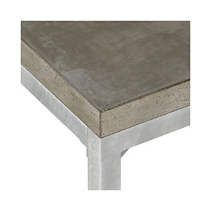 Concrete Top/ Zinc X-Base Dining Tables