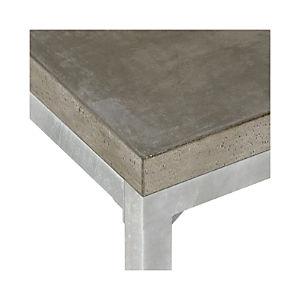Concrete Top/ Zinc X-Base Dining Tables