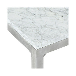 Marble Top/ Zinc X-Base Dining Tables