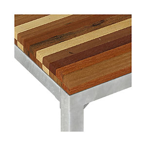 Reclaimed Wood Top/ Zinc X-Base Dining Tables