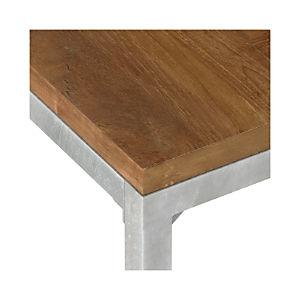 Teak Top/ Zinc X-Base Dining Tables