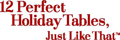 12 Perfect Xmas Tables
