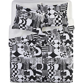 Marimekko Yhdessa Black Bed Linens