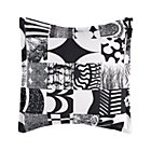 Marimekko Yhdess&amp;#228; Black Euro Sham.
