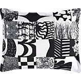 Marimekko Yhdess Black Standard Sham
