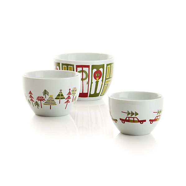 3-Piece Yule Town Bowl Set