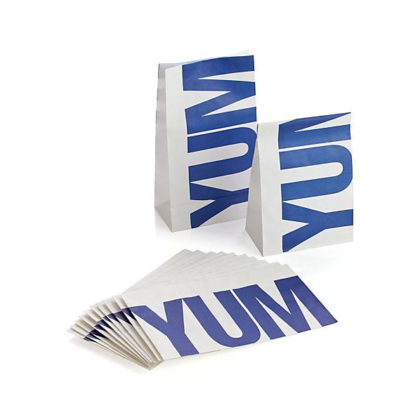Set of 12 Yum Paper Bags