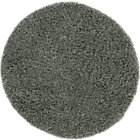 Zia Grey Round Shag Rug.