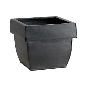 Zinc Square Rail Planter