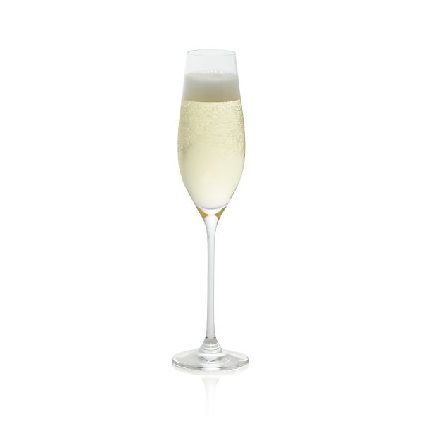 Zinnia Engraved Sparkling Wine Glass