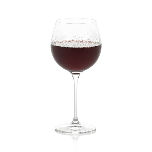 Zinnia Engraved Wine Glasses