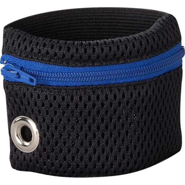 Blue Zip Wristband