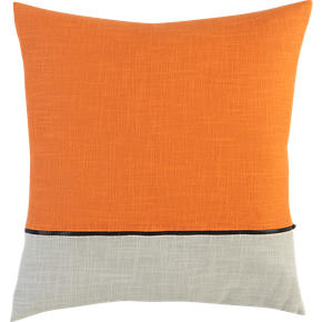 Zipper Orange 18 Pillow