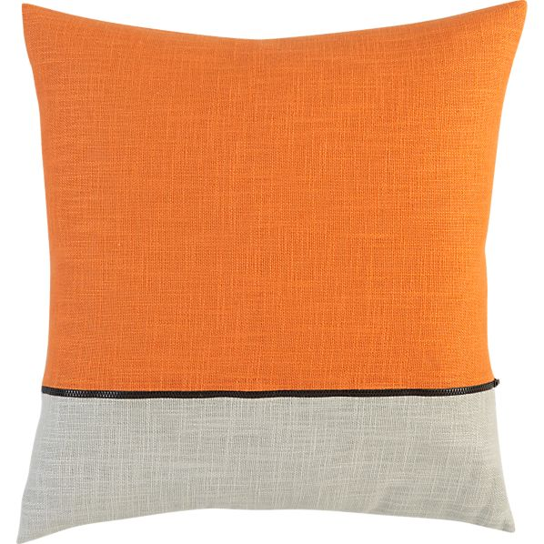 "Zipper Orange 18"" Pillow"