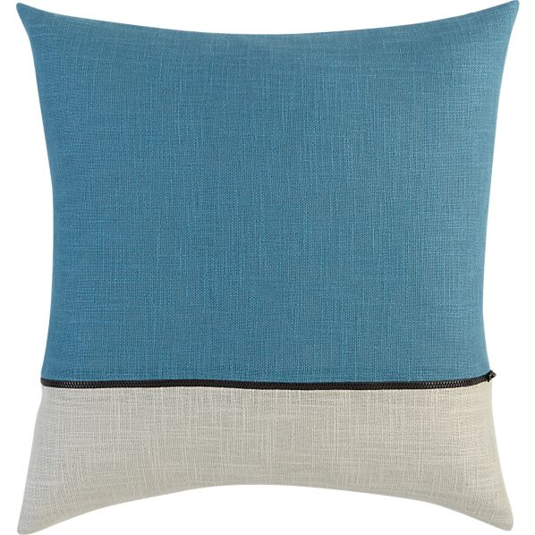 "Zipper Teal 18"" Pillow"