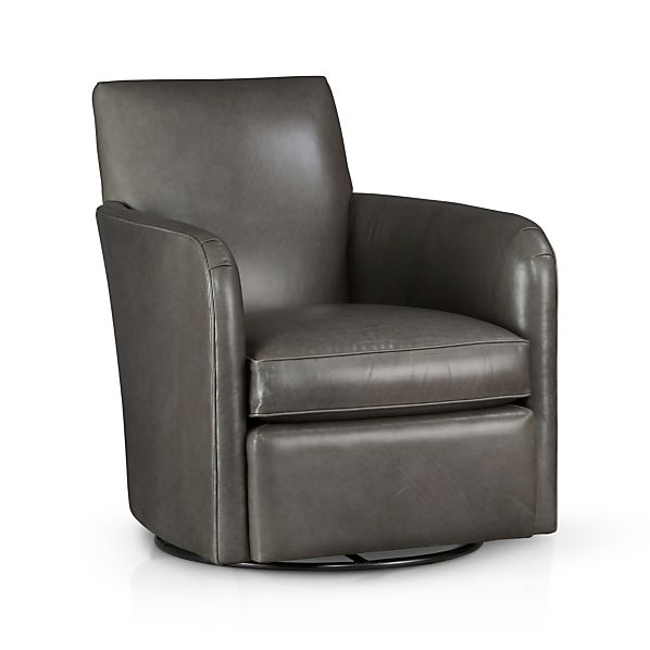 Zoe Leather Swivel Chair