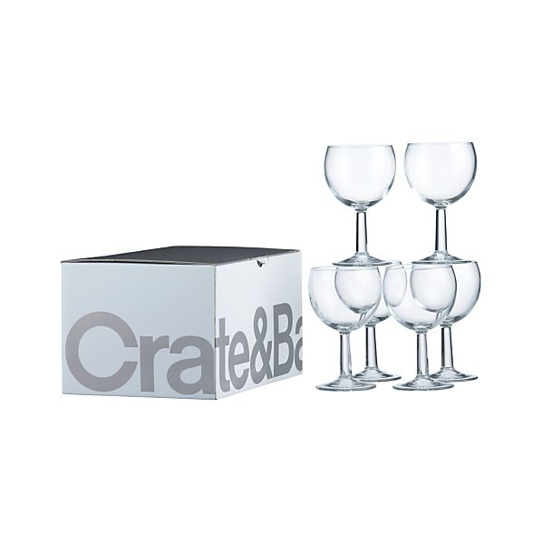 Set of 6 Boxed Zoom Wine Glasses