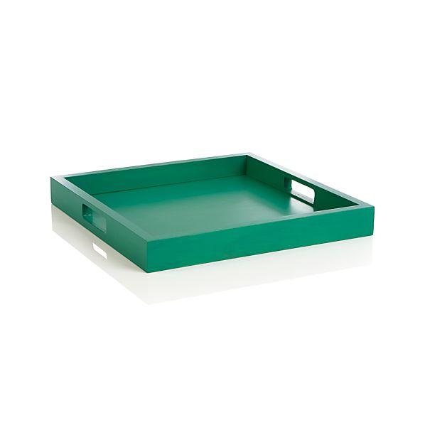 Zuma Dark Green Tray