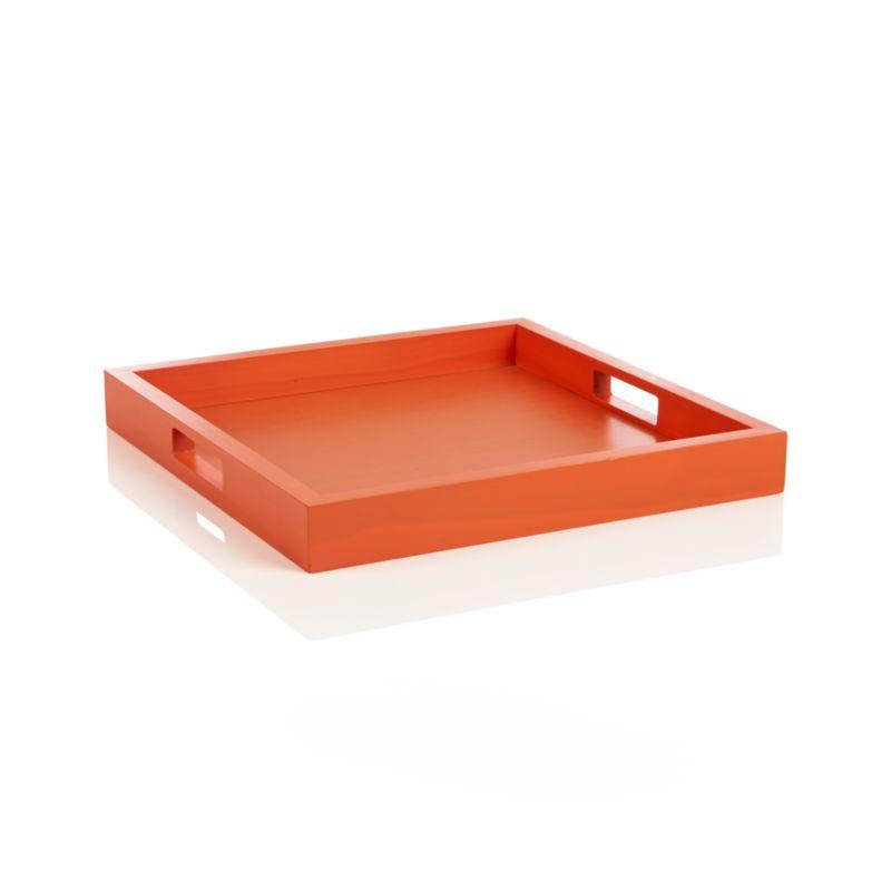Zuma Orange Tray Crate And Barrel
