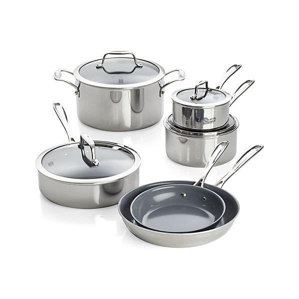 ZWILLING ® J.A. Henckels VistaClad Ceramic Nonstick 10-Piece Cookware Set