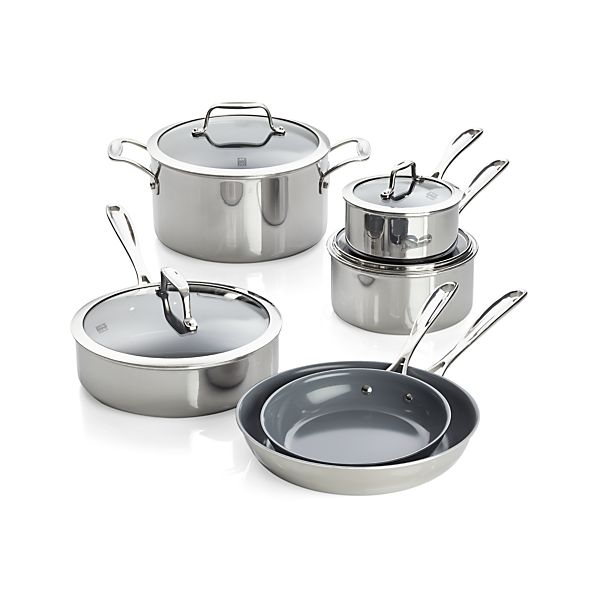 ZWILLING ® J.A. Henckels VistaClad Ceramic Nonstick 10-Piece Cookware Set