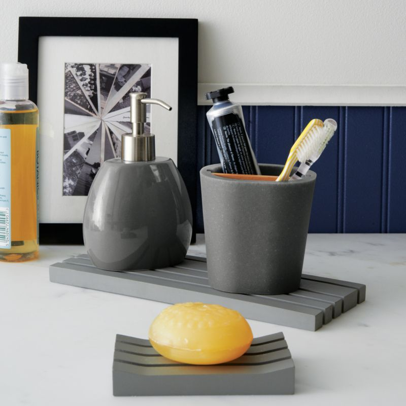 Yellow And Grey Bathroom Accessories, Home Decor