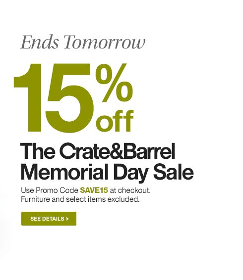 10 crate and barrel coupon code