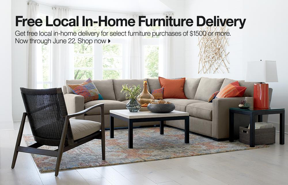 Free Local In Home Furniture Delivery Now Through June 22