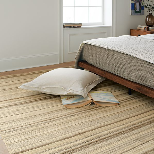 Lynx Natural Striped Wool Rug