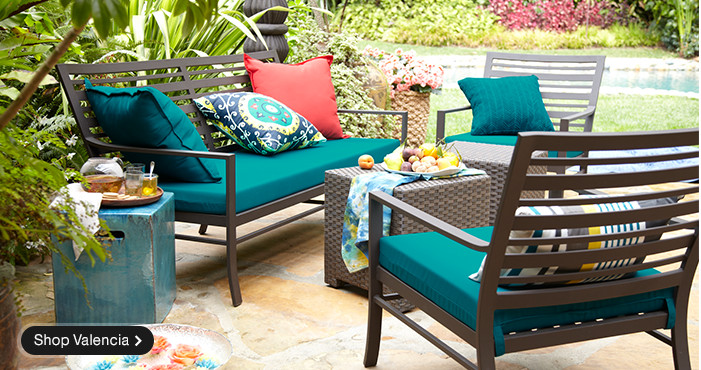 the crate and barrel lifestyle lives outdoors with patio furniture