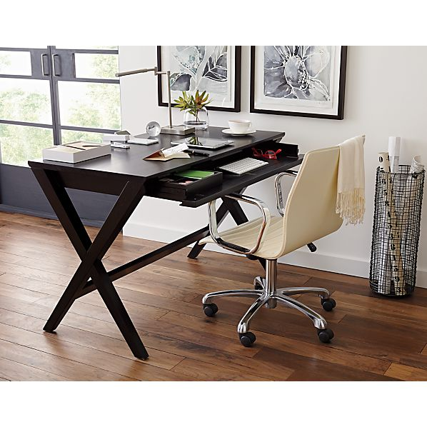 Spotlight Ebony 48 Quot Desk Crate And Barrel