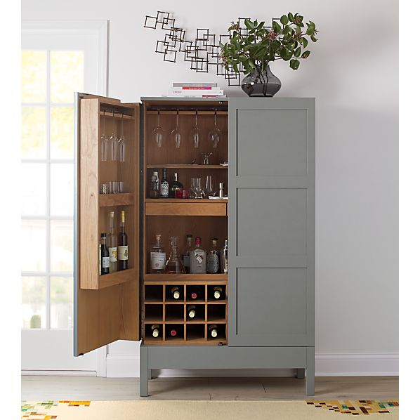 Victuals Grey Bar Cabinet