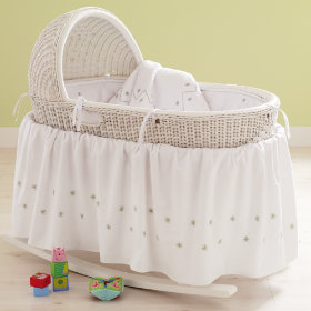 White Nod Bassinet and Bedding Sets