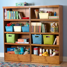 Flat Top Bookcase, 60 (Light Honey)