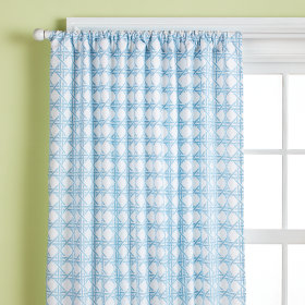 Lattice Curtain Panels (Blue)