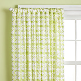 Lattice Curtain Panels (Green)