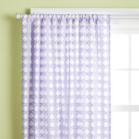 Lattice Curtain Panels (Lavender)