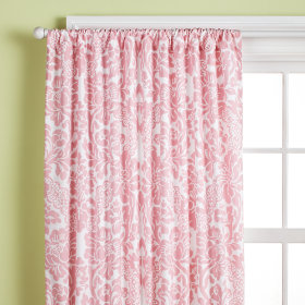 Wallpaper Floral Curtain Panels (Pink)