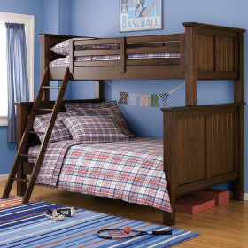 Walden Twin-Over-Full Bunk Bed (Chocolate)