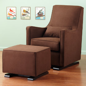 Luca Glider &amp; Ottoman (Dark Brown)
